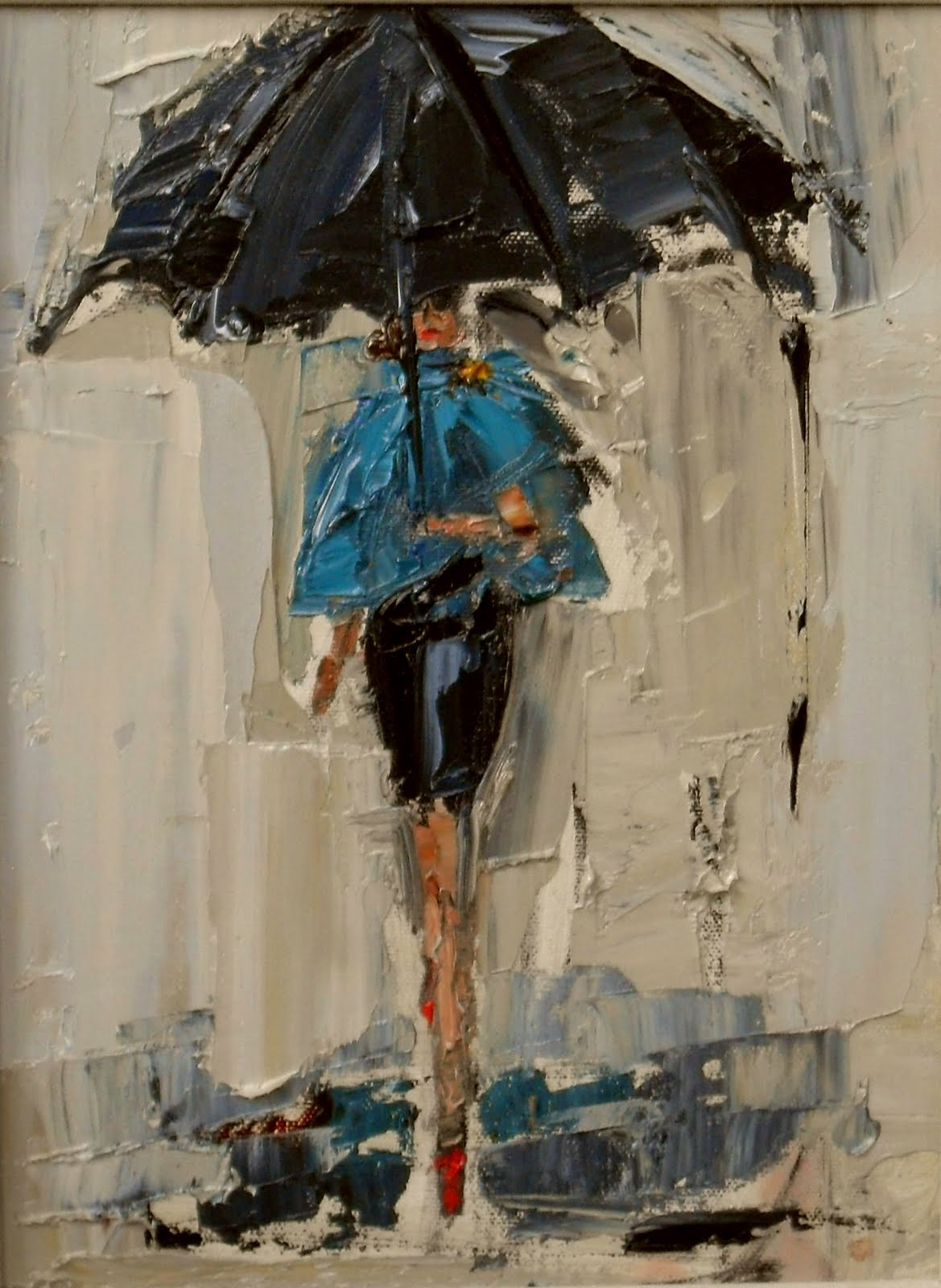 "daily painters of atlanta: ""Dancing in the Rain 1,2, 3"""