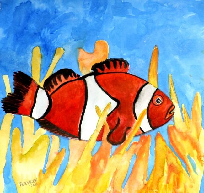 Watercolor paintings art by derek mccrea june 2010 for Paintings of fish