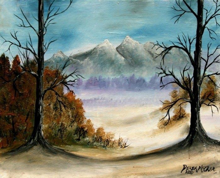 famous winter landscape oil painting