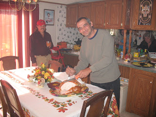 dean carving turkey