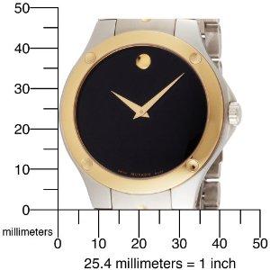 Movado Menu0027s 605910 S.E. Black Dial Two Tone Swiss Quartz Watch
