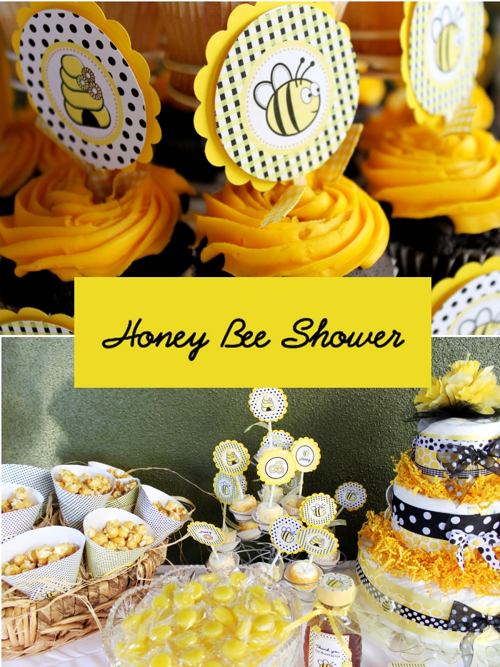 bee party printable collection to style a sweet honey bee baby shower