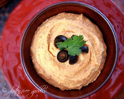Easy roasted red pepper hummus- vegan and gluten-free