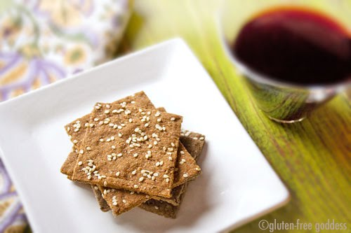 Gluten-free sesame crackers