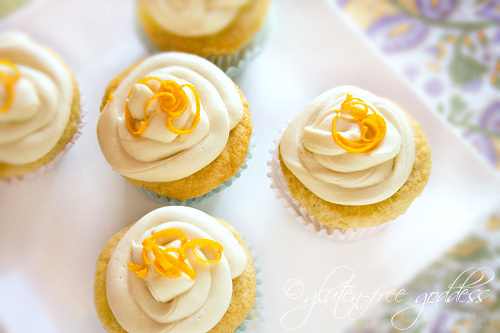 Gluten free vegan orange cupcakes