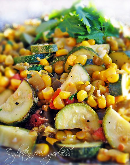 Calabasitas side dish also known as succotash