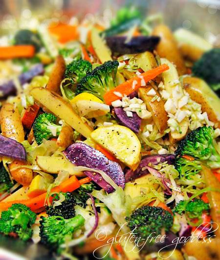 Pasta Smothered with Roasted Vegetables - Gluten-Free Goddess Recipes