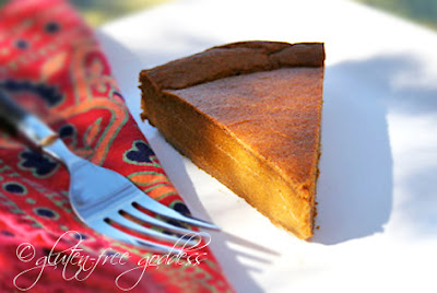 Pumpkin pie for gluten free dairy free Thanksgiving dessert