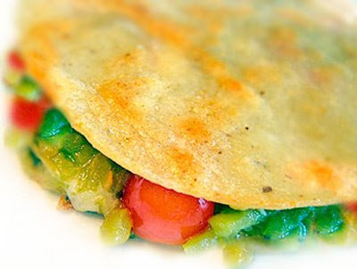 ... simple gluten-free lunch idea? This vegetarian quesadilla is as easy