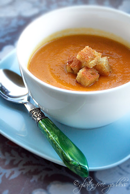 Curried carrot soup - vegan and gluten-free