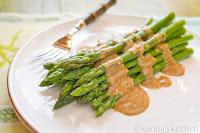 Vegan Asparagus Recipe with Maple Tahini Sauce