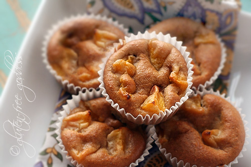 Gluten-free almond flour peach muffins