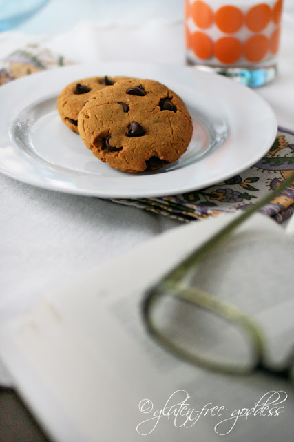  Gluten free cookies with pumpkin peanut butter and chocolate chips