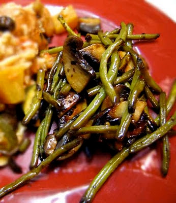  Pomegranate green beans side dish