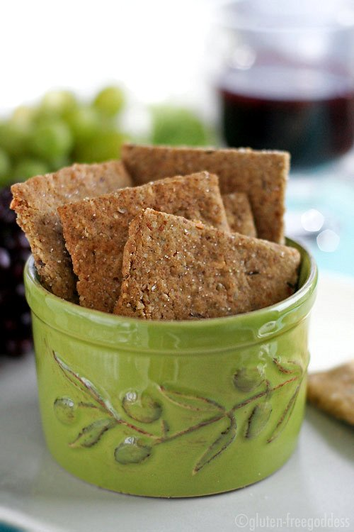 Gluten-Free Multi-Grain Crackers - Gluten-Free Goddess Recipes