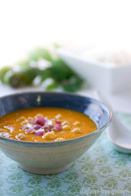 Vegetarian mulligatawny soup is gluten free and dairy free
