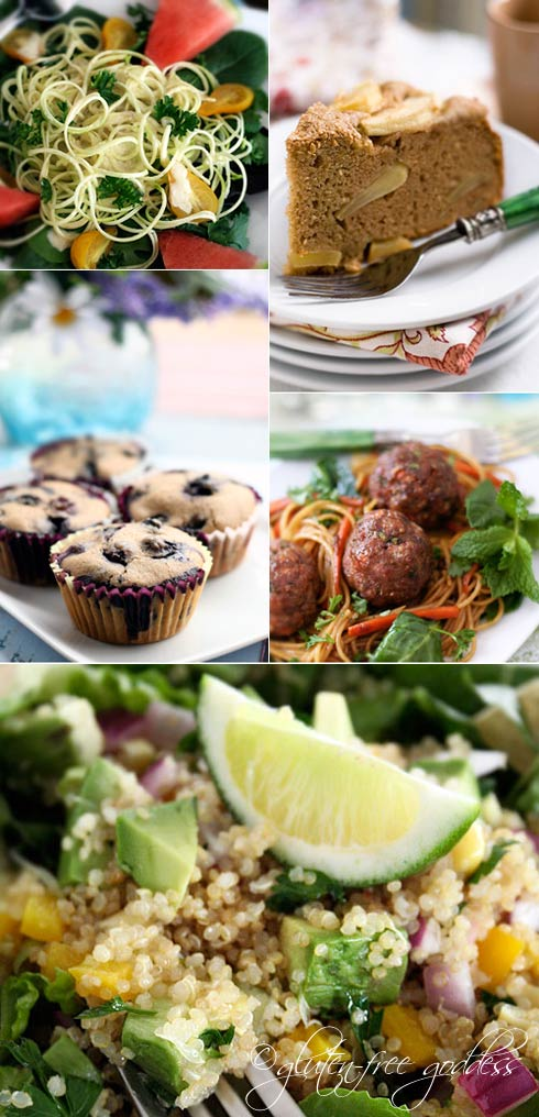 Selected gluten free recipes at Gluten Free Goddess for best of the year