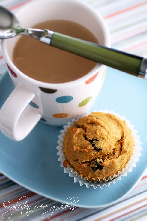 Gluten free carrot muffins