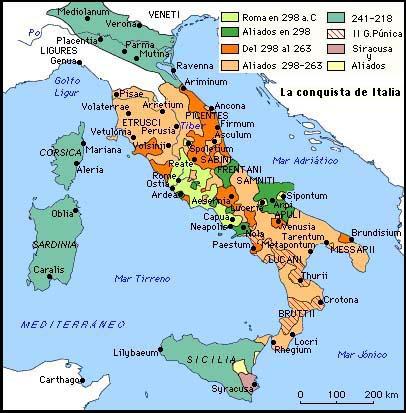 Mapa Regiones Italia