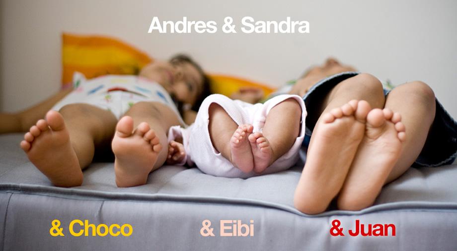 Andres + Sandra = Juan Felipe, Marianna y Abril
