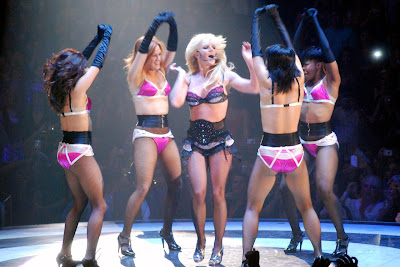 hq britney spears pantyhose tease circus tour photos panties fishnets
