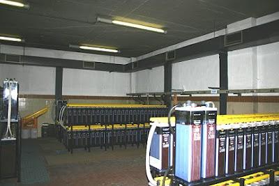 Vista de la sala de baterías