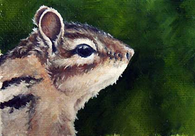 chipmunk oil painting