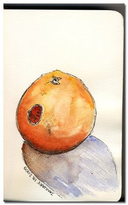sketch watercolour painting