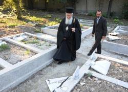 Cemitério cristão vandalizado em Istambul