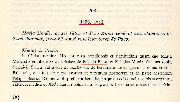 Paio Soares Pinto, o fundador da família Pinto