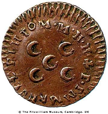 Heráldica dos Pinto, na moeda do Grão-Mestre de Malta D. Manuel Pinto