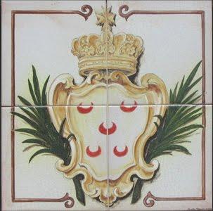 Brasão dos Pinto, heráldica usada pelo Grão-Mestre D. Manuel Pinto