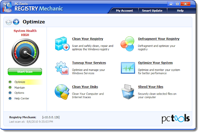 Registry Mechanic 10. + crack (keygen) Русская версияPC Tools Registry Mech