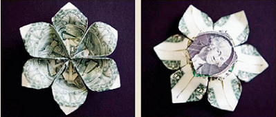 $3 Origami Flower Picture