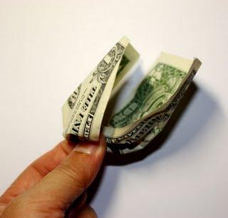Origami money flowers how to make money origami flower rose step 1 image forming origami base mightylinksfo