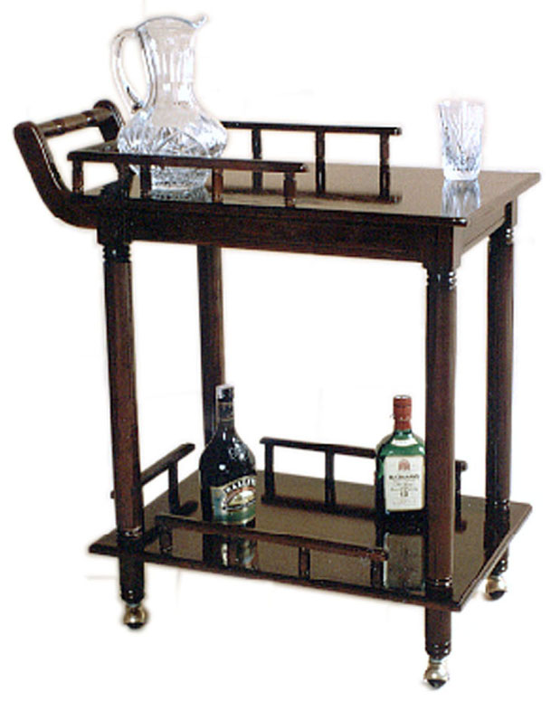 Loga accesorios y muebles de madera muebles ocasionales for Mesa carro bar madera