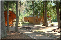 Sicamous KOA cabins, stock photo