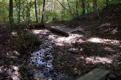 wooden bridges along Crescent Trail, Town of Perinton NY