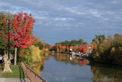 fall foliage looking west, Erie Canal at Fairport NY (c)2008 jcb