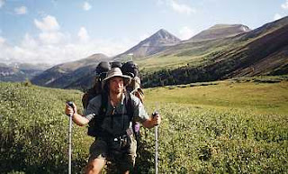 Fitpacking hiker Continental Divide Trail Colorado