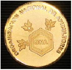 Frente Medalla del XXI Seminario Americano de Apicultura