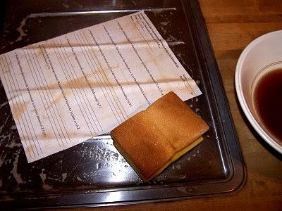 Schwarzer Tee, Putzschwamm, Papier?