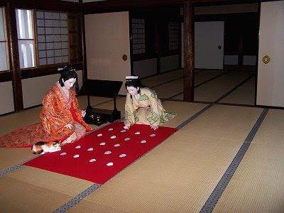 Restauriertes Zimmer der Burg von Himeji: ob es einmal wirklich so ausgesehen hat?