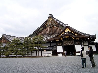 Der Shogunpalast in Kyoto, Nijo-jo, von außen