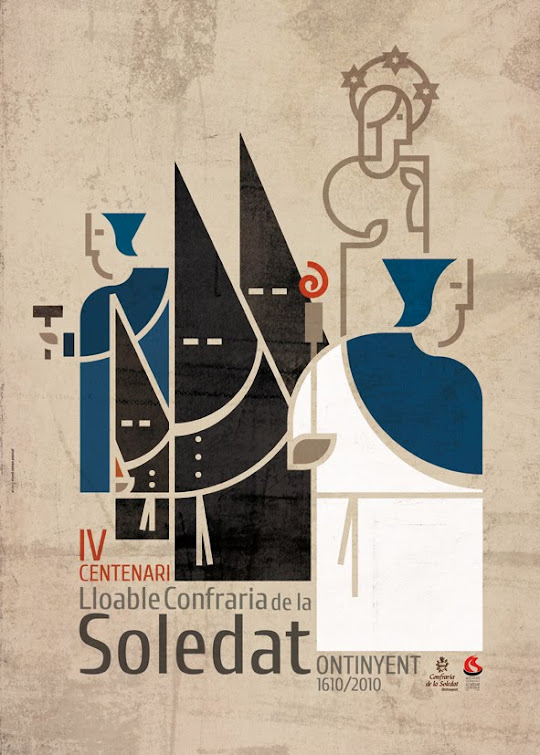 Cartell del 400 aniversari de la Lloable Confraria de la Soledat d'Ontinyent
