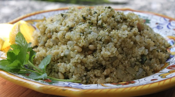 Kitchen Snaps: Aha! Herb Infused Quinoa Salad and Giveaway WINNER!
