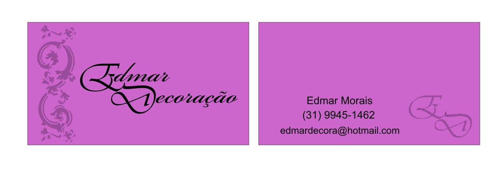 Suficiente Roberta Guedes: Cartão de visita - Edmar Decoração CY94