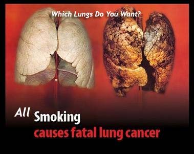 the harmful health effects of smoking cigarettes presented in the list