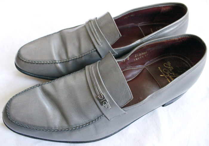 Gray Florsheim loafers