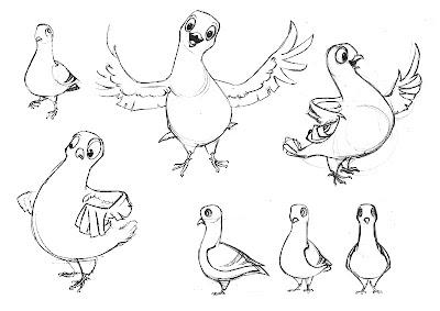 Mes Dessins Qui Bougent Pigeon